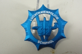 Luchthavenpolitie schiphol pet embleem blauw groot - origineel