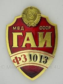 """Russian Highway Patrol politie badge """"1013""""- origineel"""