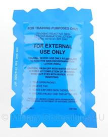 KL Koninklijke Landmacht gasmasker ontsmettingsgel training reactive skin decontamination lotion (training use) - Origineel
