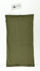 Defensie en Britse leger Geronimo Headover olivegreen Flame Retardent - nieuw - 47,5 x 25,5 cm - origineel