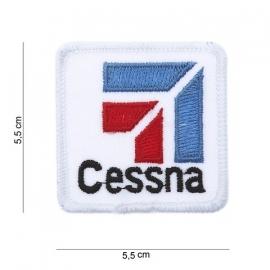 Embleem Cessna - 5,5 x 5,5 cm. - Wit