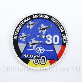 BAF International Airshow Koksijde 2009 NATO 60 jaar F16 patch -  diameter 9,5 cm -  origineel