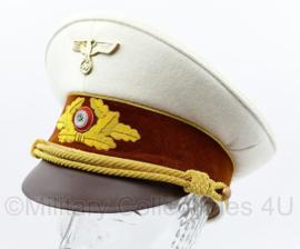 NSDAP Schirmmütze für Politische Leiter der Ortsgruppenleitung replica - Witte zomer tenue versie - maat 58 tm. 60