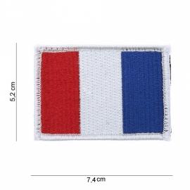 Uniform landsvlag Frankrijk stof - met klitteband - 5,2 x 7,4 cm.