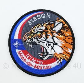 KLU Luchtmacht 313 SQN NTM '19 Mont-de-Marsan embleem - met klittenband - diameter 9 cm