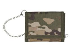 Beurs / portemonnee met ketting tegen diefstal- MTP Multicam