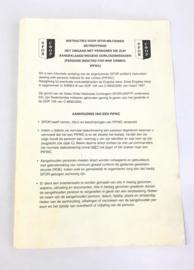 Instructieboekje Instructies voor SFOR-militairen omgaan met personen aangeklaagd voor oorlogsmisdaden - 21 x 15 cm - origineel