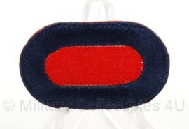 WO2 US Oval wing klein formaat - rood met donkerblauwe rand - afmeting 2,5 x 4 cm - replica