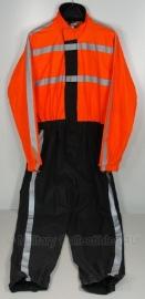 Politie regenjas motor - Nederlands - origineel - oranje/zwart - meerdere maten