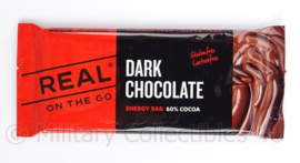 Dark Chocolate Energy Bar 60% cacao! Puur 40 gram merk Real on the Go Dark Chocolate chocoladereep
