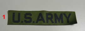 "US ""US Army"" branch tape naamlint  - origineel"