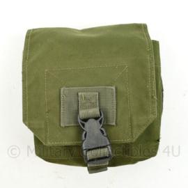 Defensie of US Army groene MOLLE Medium Utility pouch merk Warrior Assault systems -  19 x 17 x 7 cm - origineel