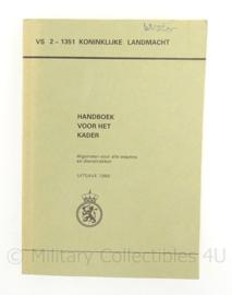 KL Landmacht  handboek voor het kader - VS 2 1351 - 1988 - 20 x 14 x 1,5 cm - origineel