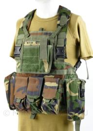Woodland MOLLE vest plate carrier met tassen - one size - nieuw - origineel