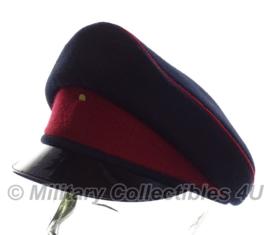 Britse leger platte pet blauw met rode bies Womans - maat 53 of 55 cm. - origineel
