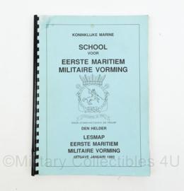 Koninklijke Marine handboek School voorEerste Maritiem Militaire Vorming - 29 x 22 x 1 cm - origineel