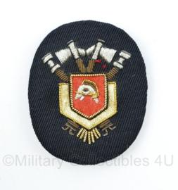 Nederlandse Brandweer pet insigne van luxe metaaldraad - 7 x 5,5 cm - origineel