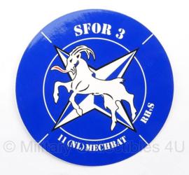 SFOR 3 - 11 NL Mech Bataillon - Sticker - diameter 10 cm