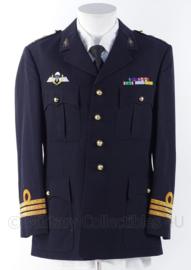 """KM Koninklijke Marine, Korps Mariniers """"barathea"""" uniform jasje officier rang """"Luitenant-Kolonel der Mariniers"""" - maat 50 - origineel"""