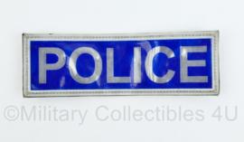 Britse POLICE rugstrook reflecterend - met klittenband - 6,5 x 20,5 cm - origineel