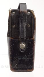 Nederlandse Politie koppel leren portofoon tas Motorola - 5,5 x 18,5 x 7 cm - origineel