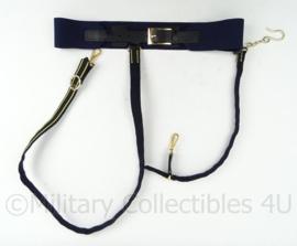 KM Marine sabel koppel draagstel - donkerblauw - 90 cm - origineel