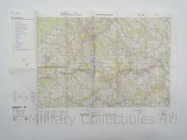 KL Nederlandse leger en Duitse Topografische kaart Baumholder Duitsland 1:50 000 - origineel