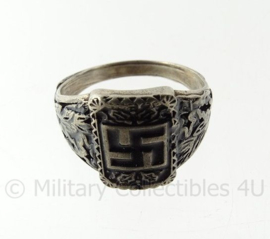 WO2 Duits ring met swastika - diameter 19 mm