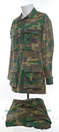USMC US Marine Corps  ERDL poplin camo jungle fatique uniform jas EN broek - 3rd pattern - maat Medium/Regular - origineel