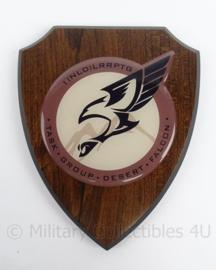 KL wandbord 1 NLD LRRPTG Long Range Reconnaissance Patrol Task Group Desert Falcon - origineel