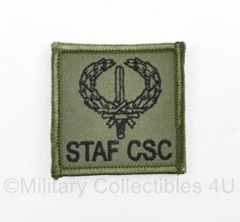Defensie borst  embleem STAF CSC - met klittenband - 5 x 5 cm - origineel