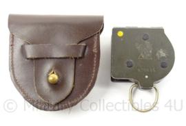 Zeldzaam ascaniakompas met lederen draagtas - MVO 1954 - gebruikt - origineel