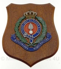 KMAR Koninklijke Marechaussee wandbord 'zonder vrees en zonder blaam' - 17 x 14,5 cm - origineel