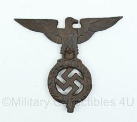 Wo2 Duits gietijzeren adelaar voor vlaggenmast?  -17x19,5x1 cm - replica