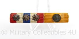 Nederlandse medaille baton met 2 medailles - Orde en Vrede/Trouwe Dienst - 6,5 x 1 cm - origineel