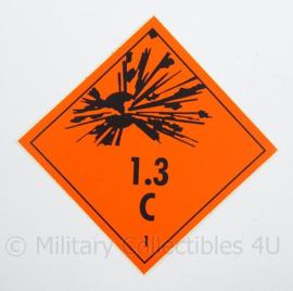 KL Landmacht Sticker gevaarlijke stoffen - afmeting 10 x 10 cm - origineel