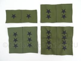 US Army Generaal rangen voor op de kraag - groen - verschillende rangen