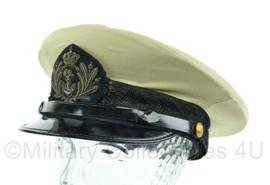 Platte pet van de Koninklijke Marine voor officieren khaki jungle tenue uit 1984 - Maat 57 - Origineel