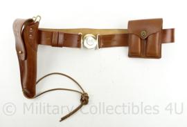 US M1911 Colt .45 koppel met magazijntas en Colt holster - bruin leder
