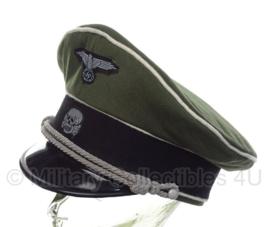 Waffen SS Infanterie (witte bies) schirmmütze gabardine BEVO crusher - 57, 58, 59 of 60 cm.