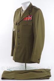 Poolse officiers uniform jas met broek met medailles en insignes - maat 46 - origineel