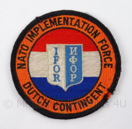 IFOR embleem NATO Implementation Force Dutch Contingent - doorsnede 8 cm - origineel