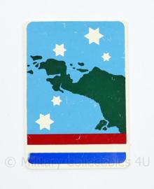 Nederlands leger Nieuw Guinea arm embleem - pin ontbreekt - 7 x 5 cm - origineel