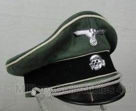 Waffen SS Infanterie(witte bies)  schirmmütze gabardine - semi crusher - 57 of 58 cm