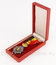 """Belgische """"Union Professionnelle vereniging"""" zilveren medaille met doosje - Origineel"""