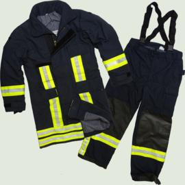 Brandweer jas MET broek Donkerblauw - nieuw model  - Maat 56 = XL - origineel