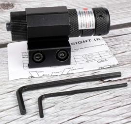 Red Dot Laser Sight met Picatinny mount Rifle - Adjustable 11mm/20mm Picatinny/Weaver Mount
