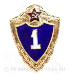 Russische  USSR Army provinciency badge 1st class - 4 x 3 cm - origineel