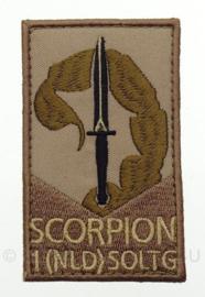 KL Nederlandse leger Korps Commandotroepen Scorpion embleem - met klittenband - 8,3 x 5 cm