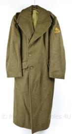Zeldzame vroege MVO DKG eind jaren 40 wollen mantel - lijkt op WO2 US model  - maat 46 - gedragen - origineel